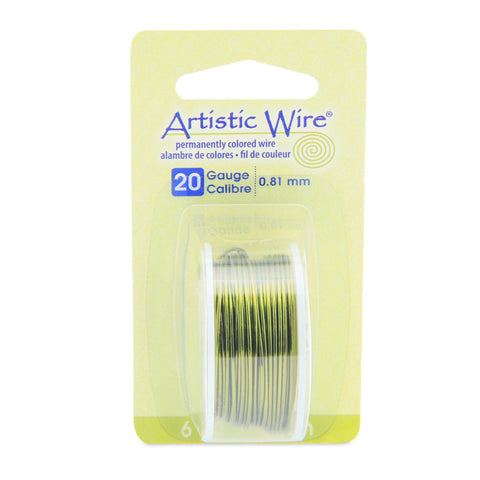 Image of 20 Gauge Olive Artistic Wire (18ft) - The Bead Chest