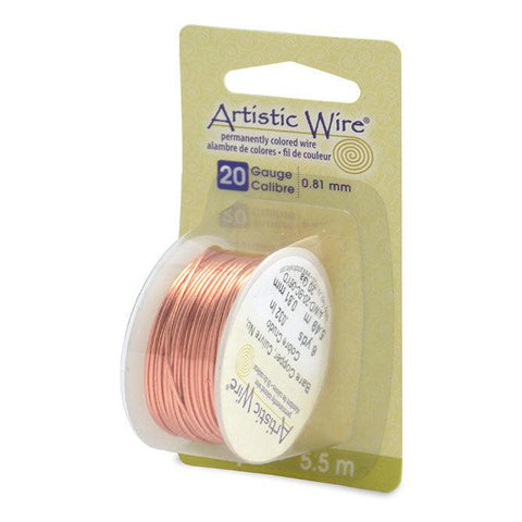 20 Gauge Bare Copper Artistic Wire (18ft) - The Bead Chest