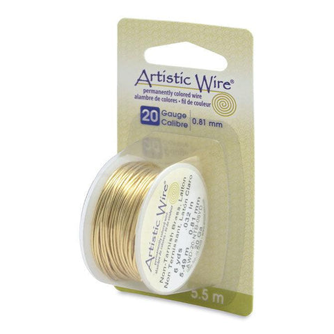 20 Gauge Tarnish Resistant Brass Artistic Wire (18ft) - The Bead Chest