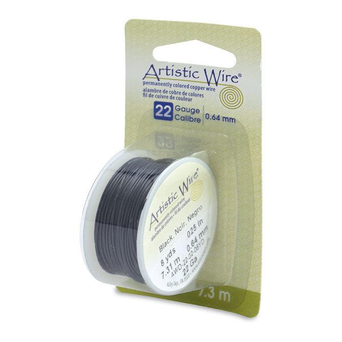 22 Gauge Black Artistic Wire (24ft) - The Bead Chest