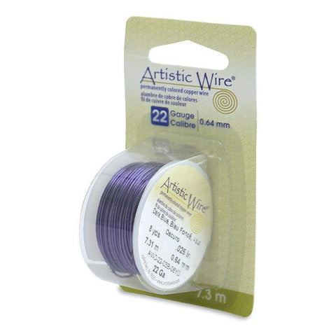 22 Gauge Dark Blue Artistic Wire (24ft) - The Bead Chest