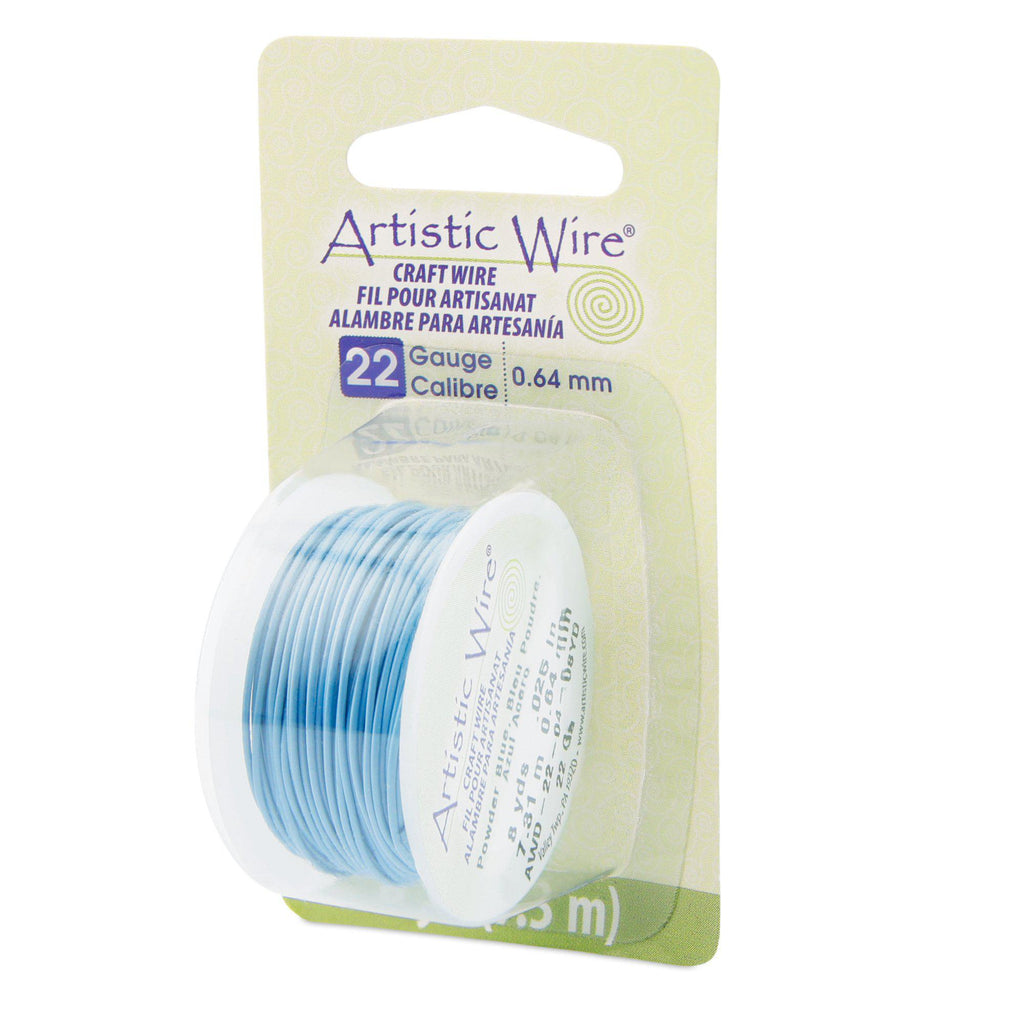22 Gauge Powder Blue Artistic Wire (24ft) - The Bead Chest