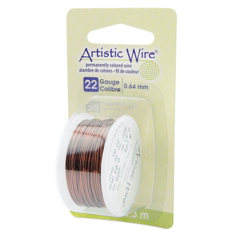 22 Gauge Brown Artistic Wire (24ft) - The Bead Chest