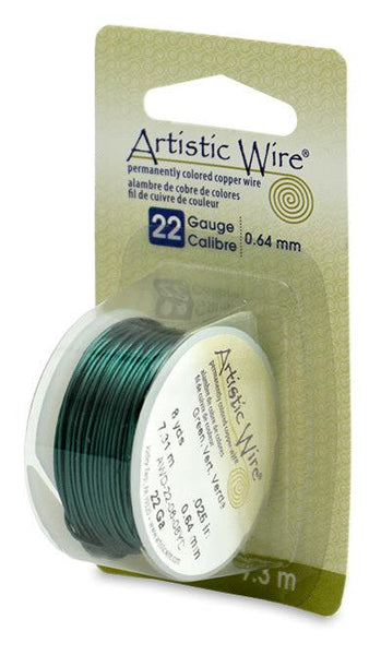 22 Gauge Green Artistic Wire (24ft)