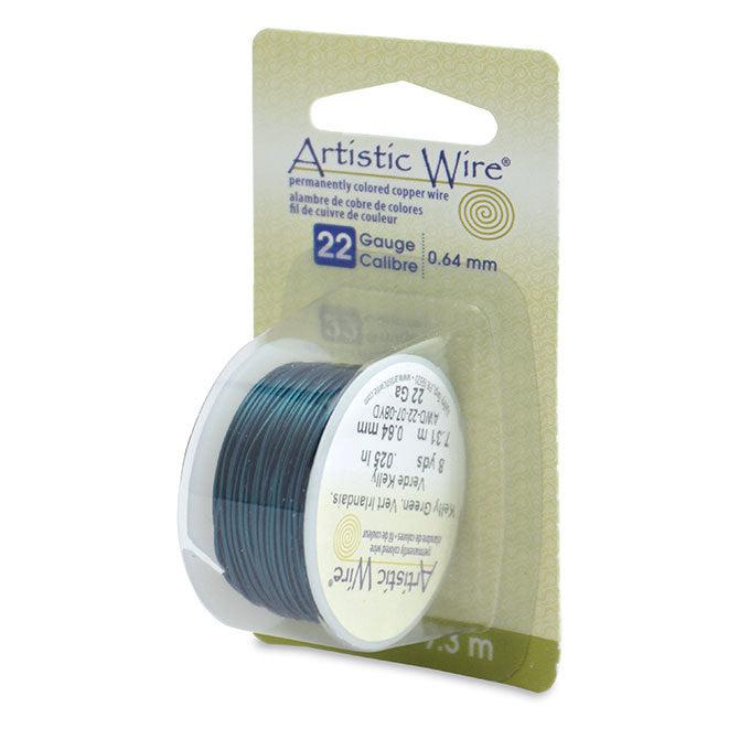 22 Gauge Kelly Green Artistic Wire (24ft) - The Bead Chest
