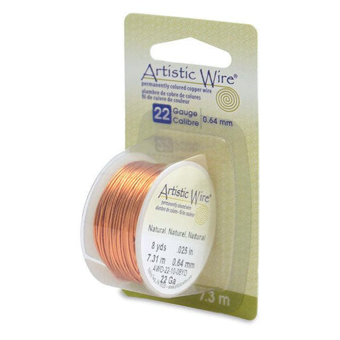 22 Gauge Natural Artistic Wire (24ft) - The Bead Chest
