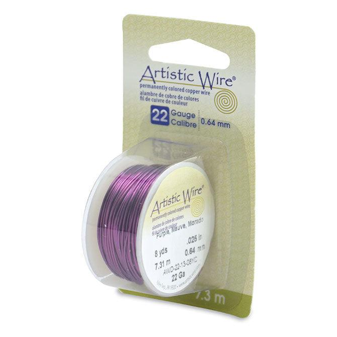 22 Gauge Purple Artistic Wire (24ft) - The Bead Chest