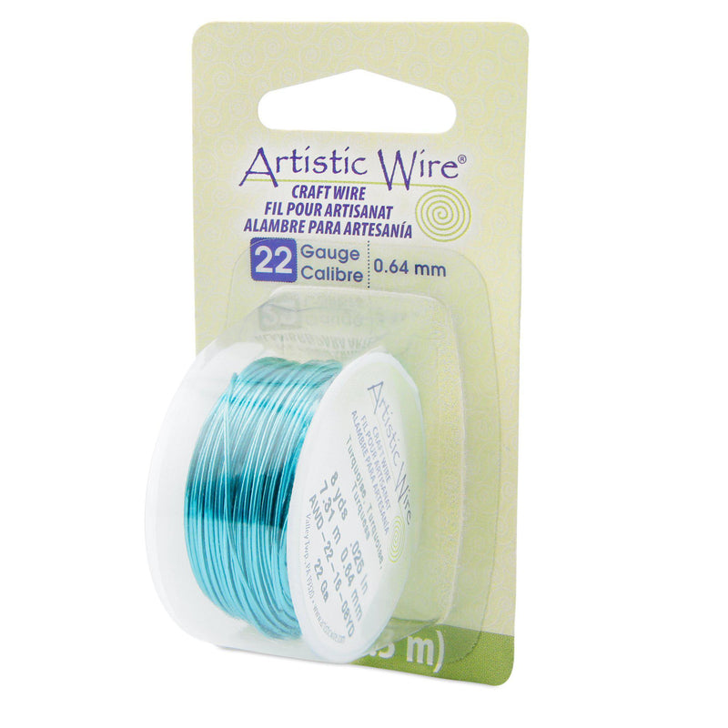 22 Gauge Turquoise Artistic Wire (24ft) - The Bead Chest
