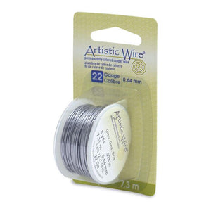 22 Gauge Grey Artistic Wire (24ft) - The Bead Chest