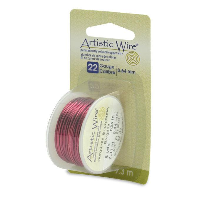 22 Gauge Burgundy Artistic Wire (24ft) - The Bead Chest