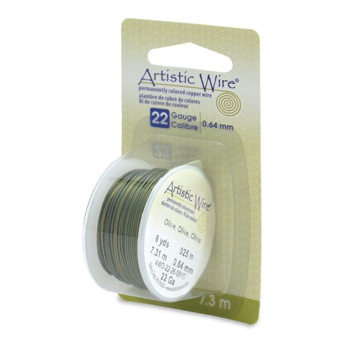 22 Gauge Olive Artistic Wire (24ft) - The Bead Chest