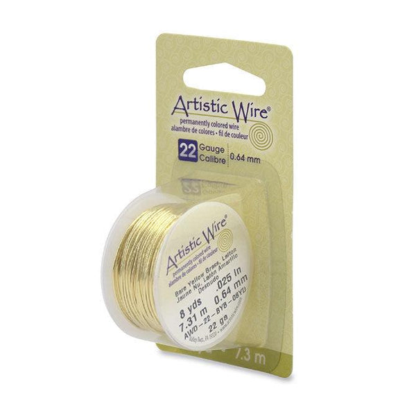 22 Gauge Bare Yellow Brass Artistic Wire (24ft) - The Bead Chest