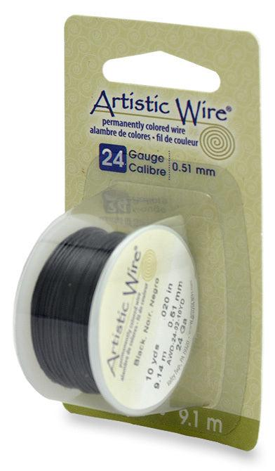 24 Gauge Black Artistic Wire (30ft) - The Bead Chest