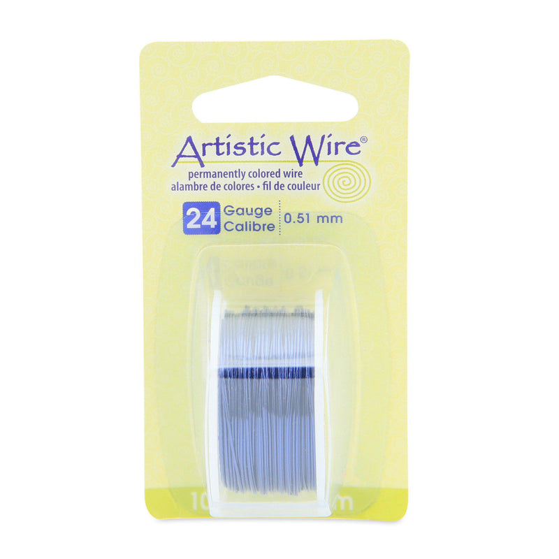 24 Gauge Dark Blue Artistic Wire (30ft) - The Bead Chest