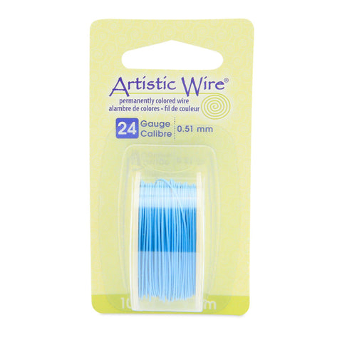 24 Gauge Powder Blue Artistic Wire (30ft) - The Bead Chest