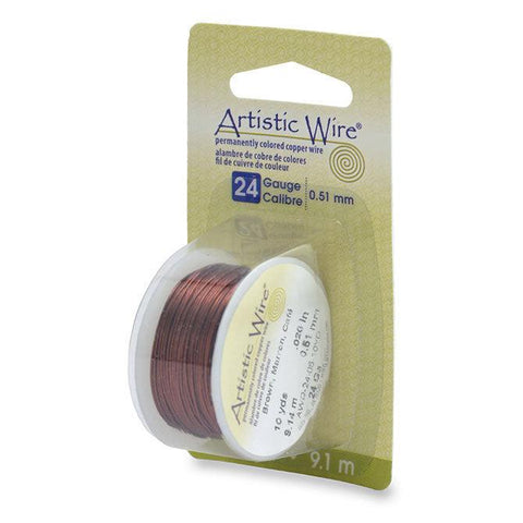 24 Gauge Brown Artistic Wire (30ft) - The Bead Chest