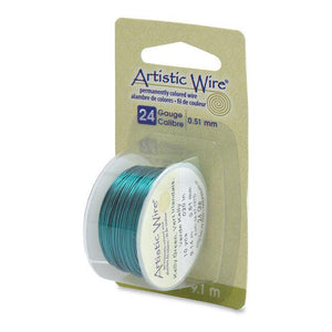 24 Gauge Kelly Green Artistic Wire (30ft) - The Bead Chest