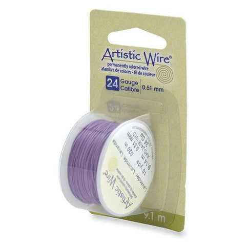 24 Gauge Lavender Artistic Wire (30ft) - The Bead Chest