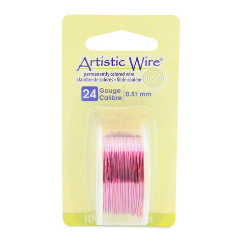 24 Gauge Magenta Artistic Wire (30ft) - The Bead Chest