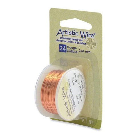 24 Gauge Natural Artistic Wire (30ft) - The Bead Chest