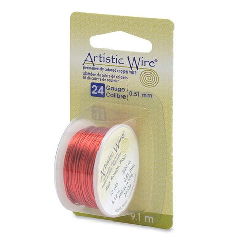24 Gauge Red Artistic Wire (30ft) - The Bead Chest
