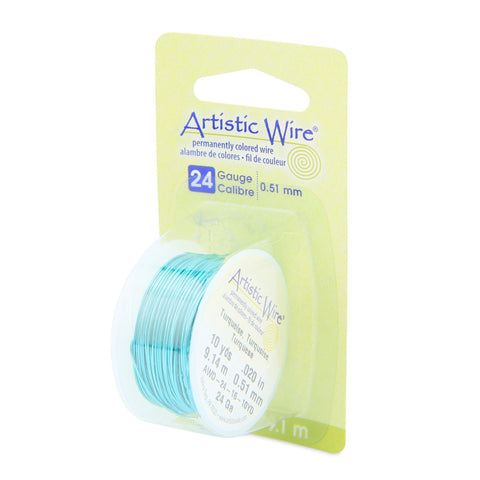 24 Gauge Turquoise Artistic Wire (30ft) - The Bead Chest
