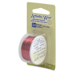 24 Gauge Burgundy Artistic Wire (30ft) - The Bead Chest