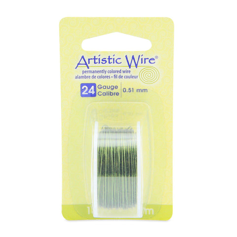 24 Gauge Olive Artistic Wire (30ft) - The Bead Chest