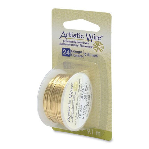 24 Gauge Tarnish Resistant Brass Artistic Wire (30ft) - The Bead Chest