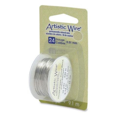24 Gauge Tinned Copper Artistic Wire (30ft) - The Bead Chest