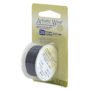 26 Gauge Black Artistic Wire (45ft) - The Bead Chest