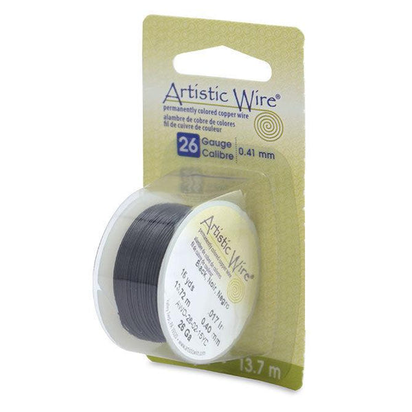 26 Gauge Black Artistic Wire (45ft)