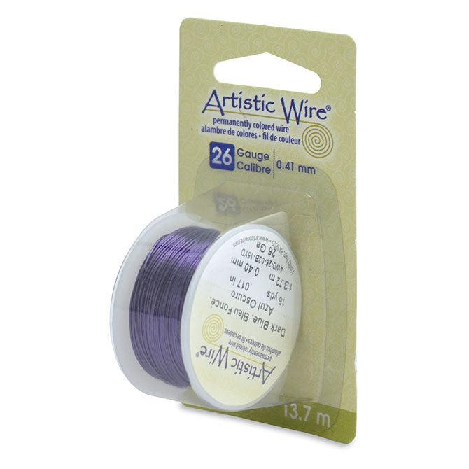26 Gauge Dark Blue Artistic Wire (45ft) - The Bead Chest