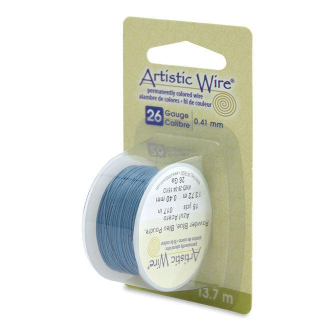 26 Gauge Powder Blue Artistic Wire (45ft) - The Bead Chest