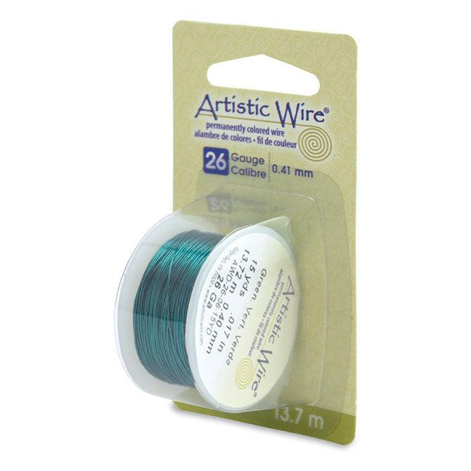 26 Gauge Green Artistic Wire (45ft) - The Bead Chest
