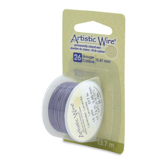 26 Gauge Lavender Artistic Wire (45ft) - The Bead Chest