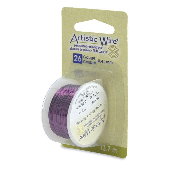 26 Gauge Purple Artistic Wire (45ft) - The Bead Chest