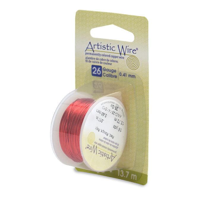 26 Gauge Red Artistic Wire (45ft) - The Bead Chest