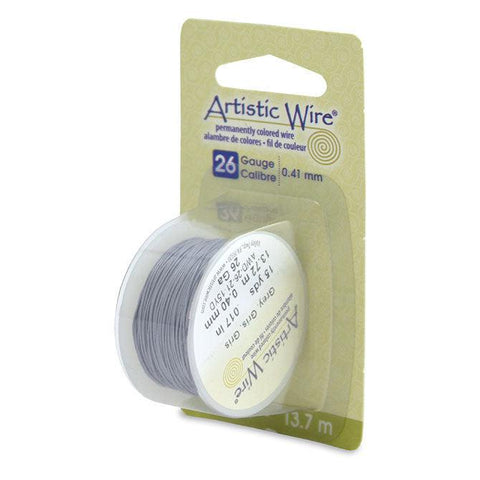 26 Gauge Grey Artistic Wire (45ft) - The Bead Chest