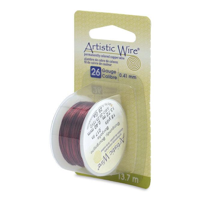 26 Gauge Burgundy Artistic Wire (45ft) - The Bead Chest