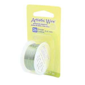26 Gauge Olive Artistic Wire (45ft) - The Bead Chest