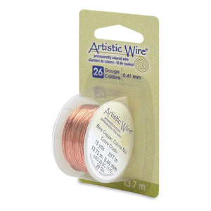 26 Gauge Bare Copper Artistic Wire (45ft) - The Bead Chest