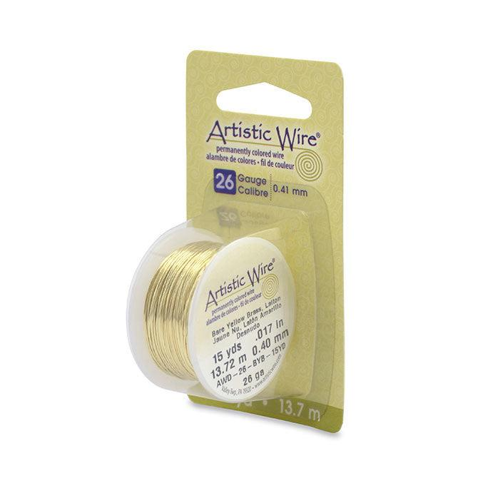 26 Gauge Bare Yellow Brass Artistic Wire (45ft) - The Bead Chest