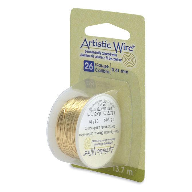 26 Gauge Tarnish Resistant Brass Artistic Wire (45ft) - The Bead Chest