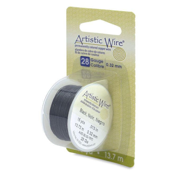 28 Gauge Black Artistic Wire (45ft) - The Bead Chest