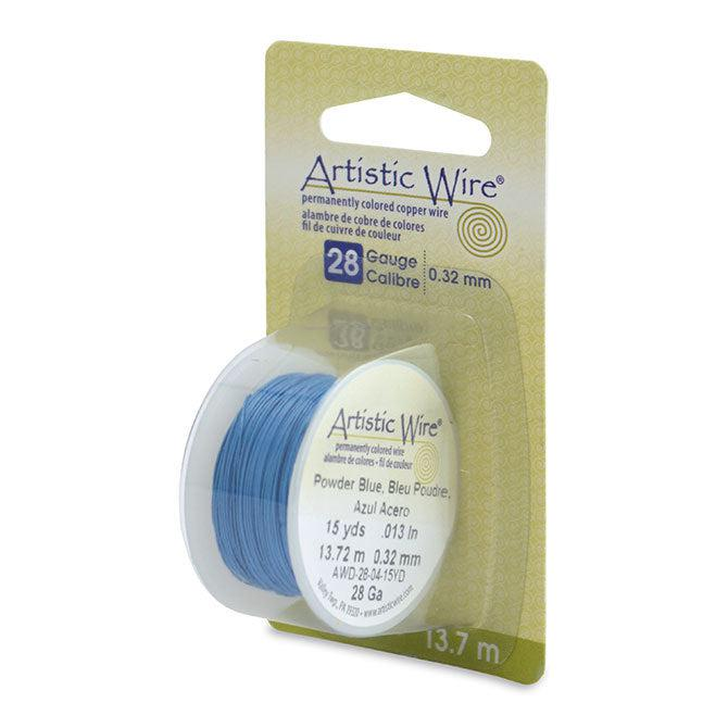 28 Gauge Powder Blue Artistic Wire (45ft) - The Bead Chest
