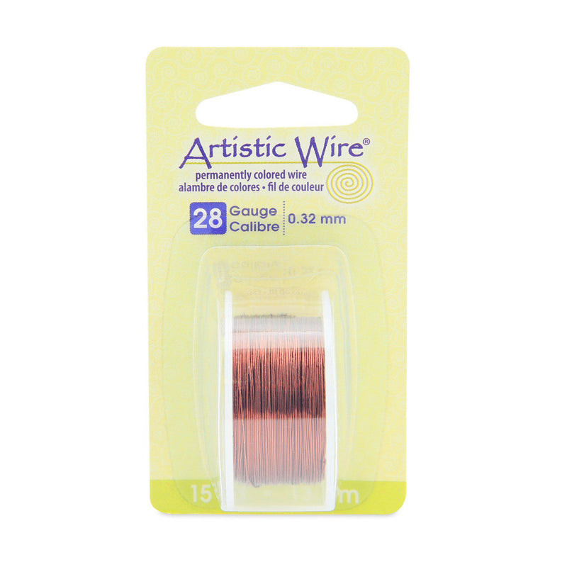 28 Gauge Brown Artistic Wire (45ft) - The Bead Chest
