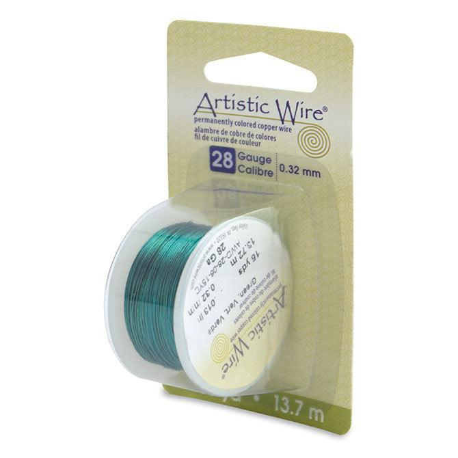 28 Gauge Green Artistic Wire (45ft) - The Bead Chest