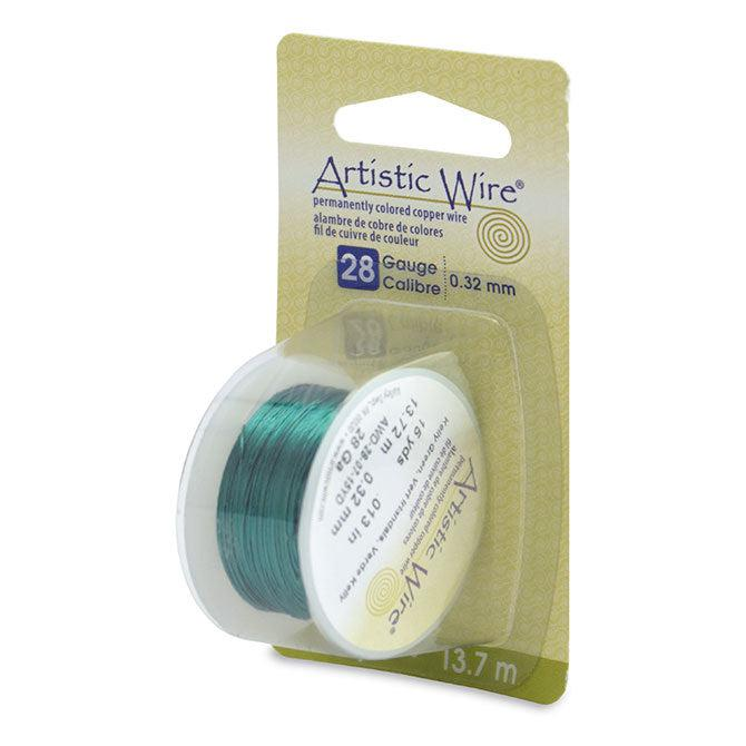 28 Gauge Kelly Green Artistic Wire (45ft) - The Bead Chest
