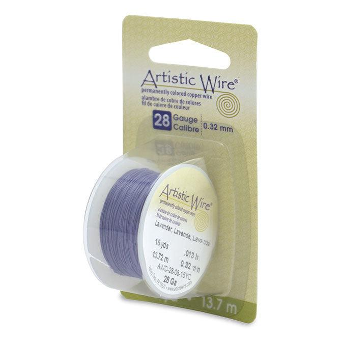 28 Gauge Lavender Artistic Wire (45ft) - The Bead Chest